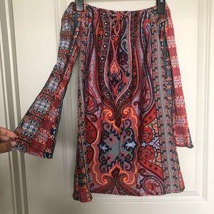 Boohoo petite bohemian dress